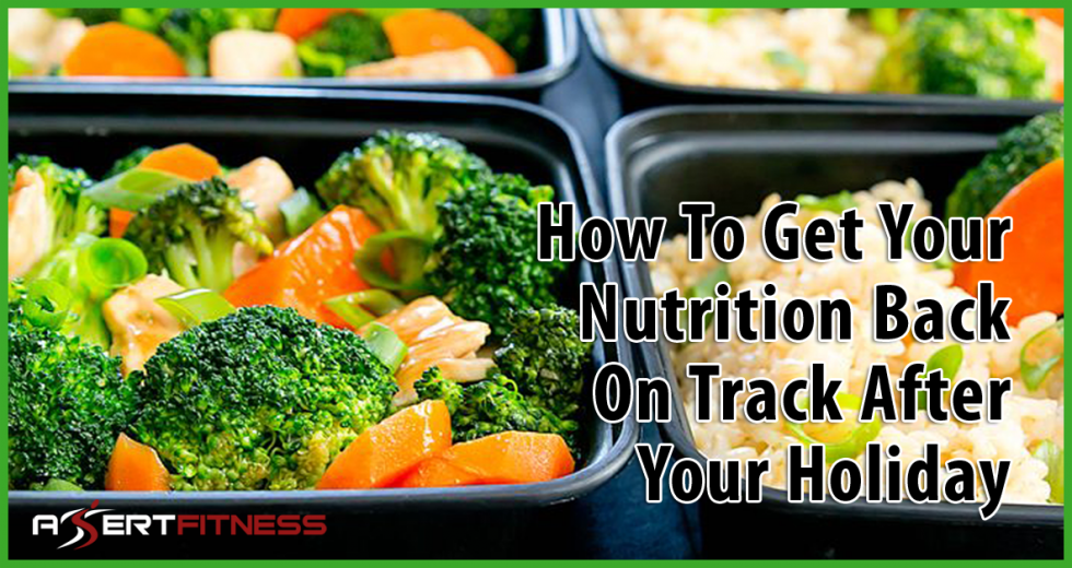 how to get your nutrition back on track